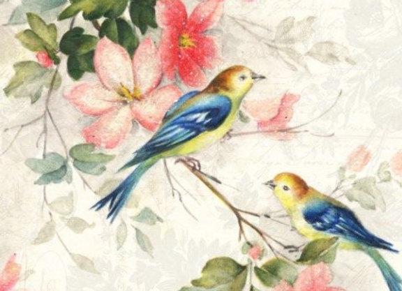 Blue Winged Birds - Large