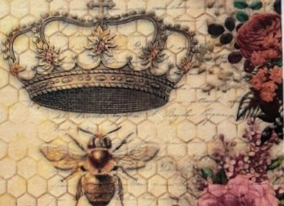#2111 Crowns, Bees and Roses - Medium