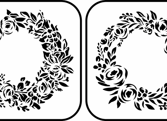 Jami Ray Stencils - Floral Wreath 2 Pack