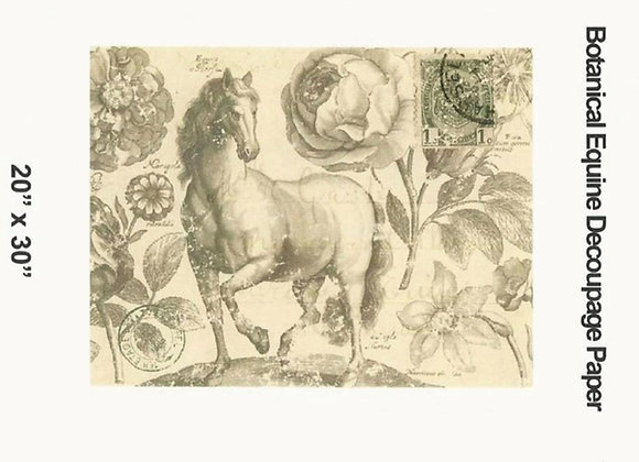 #9 Decoupage Paper - Botanical Equine