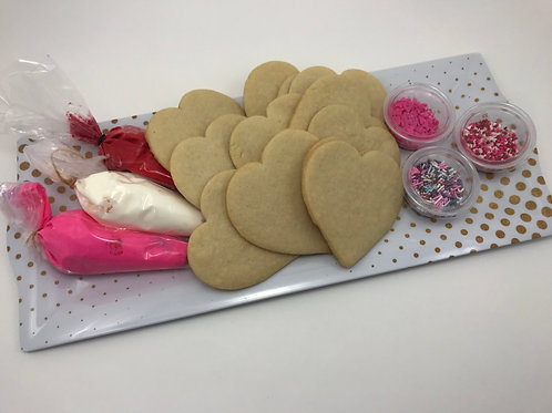Valentine's Cookie Decorating Kit with Decorative Box