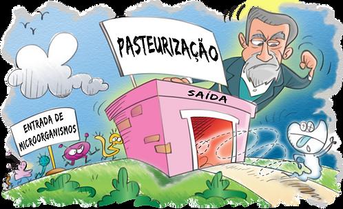 PASTEUR SCIENTIST AND PASTEURIZATION - Illustrator: Grego