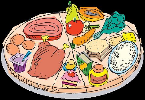 ADEQUATE FOOD DIET - Illustrator: Grego
