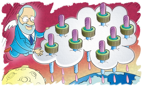 SCIENTIST SABIN AND THE VACCINE AGAINST POLIOMYELITIS - Illustrator: Grego