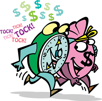 TIME PASSES IN THE FINANCIAL MARKET - Illustrator: Grego