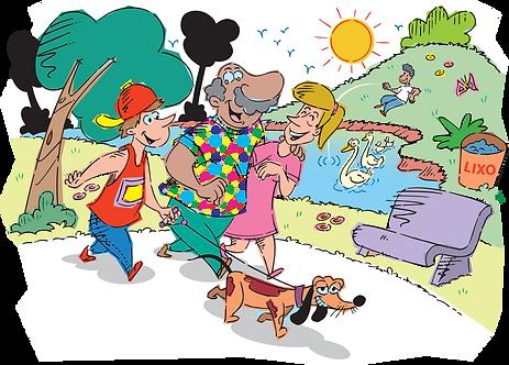 FAMILY LEISURE ACTIVITIES - Illustrator: Grego
