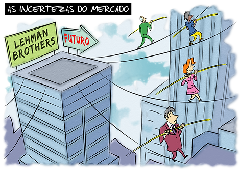 THE UNCERTAINTY OF THE MARKET - Illustrator: Grego