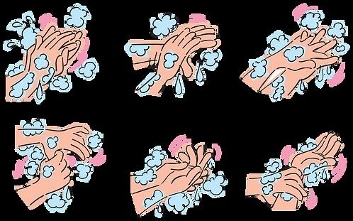 CORRECT HAND HYGIENE - Illustrator: Grego