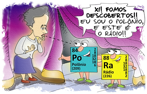SCIENTIST MARY CURIE WITH POLLON AND RADIO - Illustrator: Grego