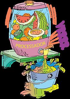 FRUIT AND VEGETABLE PROCESSOR - Illustrator: Grego
