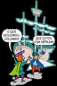 CRISTÓVÃO COLOMBO AND THE SÍFILIS - Illustrator: Grego