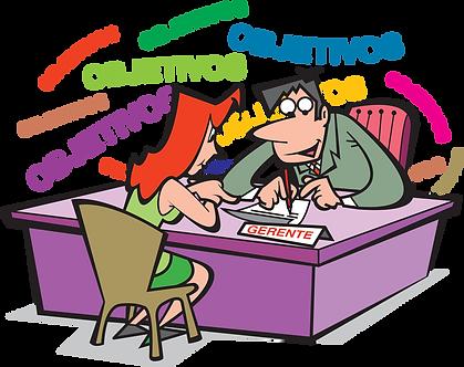BANK MANAGER ATTENDING CUSTOMER - Illustrator: Grego