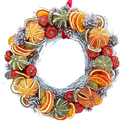 White Fruit Twig Circle (2 sizes available)