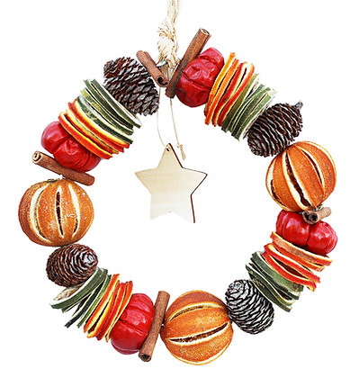 Christmas Orange Circle (available with wooden star)