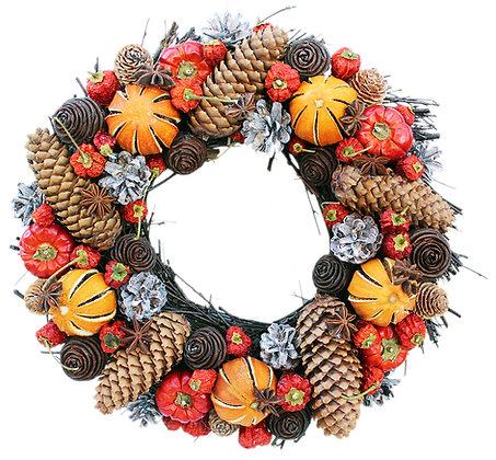 Winter Cone Round Wreath