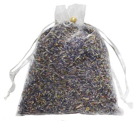 Lavender Organza Bag- White