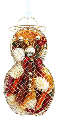 Snowman Metal Cage