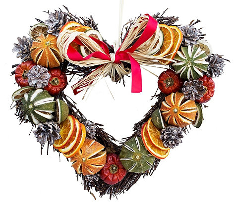 Fruit Twig Heart (3 sizes available)