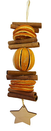 Short Cinnamon and Orange Garland: Star