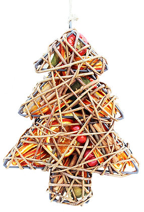 Wicker Fruit Christmas Tree
