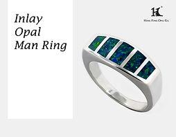Opal Inlay Man rings, Opal inlay, Opal Jewellery, Natural, Silver ring, 14K gold ring, Australian Opal ring, Opal Doublet Ring, 恆豐, HFO, 蛋白石, 澳寶, 歐泊, 戒指