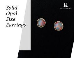 Opal earrings, Opal jewellery, Australian Opal, Solid Opal, 恆豐, HFO, 蛋白石, 澳寶, 歐泊, 耳環, silver earrings, 14K gold earrings, pin earrings