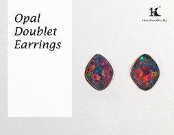 Opal earrings, Opal jewellery, Australian Opal, Opal Doublet, 恆豐, HFO, 蛋白石, 澳寶, 歐泊, 耳環, Silver earrings, 14K gold earrings, pin earrings
