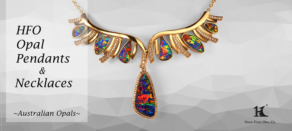 Opal Pendants & Necklaces, Opal Jewellery, Opal Pendants, Opal Necklaces, Opal jewelry, Australian Opal, Opal Doublet Pendant, Hang Fong Opal, HFO, 蛋白石, 澳寶, 歐泊,吊墜,恆豐, 14K gold, Yellow gold, gold pendant, gold necklace