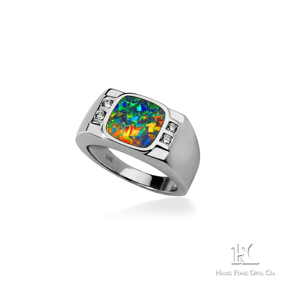 HFO ring, opal ring, Australian opal