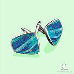 Australian opal cufflinks,  doublet opal, opal doublet, Hang Fong Opal, Opal Triplet, opal manufacturer, beautiful, Jewellery, opal, opal jewellery, opal jewelry, Opal wholesale