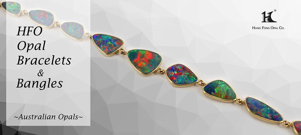 Opal Jewellery, Opal Bracelets, Opal Bangles, Opal, Australian Opal, Opal Doublet, 恆豐, HFO, 蛋白石, 澳寶, 歐泊, 手鏈, 14K gold Bracelet
