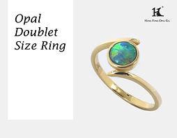 Opal rings, Opal Jewellery, Natural, Silver ring, 14K gold ring, Australian Opal ring, Opal Doublet Ring, 恆豐, HFO, 蛋白石, 澳寶, 歐泊, 戒指