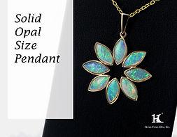 Opal Pendants, Opal Jewellery, Opal jewelry, Australian Opal, Solid Opal, 蛋白石, 澳寶, 歐泊, 吊墜, 恆豐, silver, 14K gold