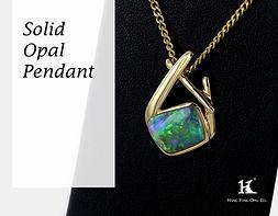 Opal Pendants, Opal Jewellery, Opal jewelry, Australian Opal, Solid Opal, HFO, 蛋白石, 澳寶, 歐泊, 吊墜, 恆豐, silver, 14K gold