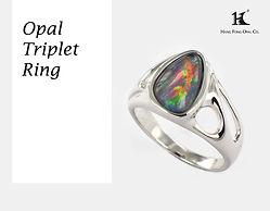 Opal rings, Opal Jewellery, Natural, Silver ring, 14K gold ring, Australian Opal ring, Opal Triplet Ring, 恆豐, HFO, 蛋白石, 澳寶, 歐泊, 戒指