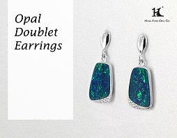 Opal doublet earrings, Opal jewellery, Australian Opal, Opal Doublet earrings, 恆豐, HFO, 蛋白石, 澳寶, 歐泊, 耳環, silver earrings, 14K earrings, Hang Fong Opal