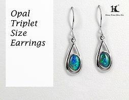 Opal earrings, Opal jewellery, Australian Opal, Opal Triplet, 恆豐, HFO, 蛋白石, 澳寶, 歐泊, 耳環, silver earrings, 14K gold earrings