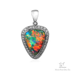 HFO pendant, opal pendant jewelry