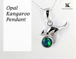 Opal Kangaroo, Opal Triplet,Opal Pendants,Opal Jewellery,Australian Opal,HFO,蛋白石,澳寶,歐泊,吊墜,恆豐,silver, bass, 14K gold, animal pendants