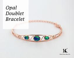 Opal Doublet Bracelet, Opal Jewellery, Opal Bracelets, Opal Bangles, Opal, Australian Opal, Opal Doublet, 恆豐, HFO, 蛋白石, 澳寶, 歐泊, 手鏈