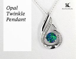 Opal Twinkle Pendant, Opal Pendants, Opal Jewellery, Opal jewelry, Australian Opal Pendant, HFO, 蛋白石, 澳寶, 歐泊, 吊墜, 恆豐, silver pendant, 14K gold Pendant, Hang Fong Opal