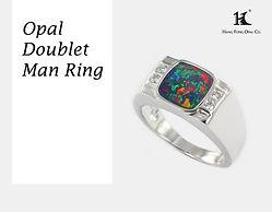 Opal Man rings, Opal Jewellery, Natural, Silver ring, 14K gold ring, Australian Opal ring, Opal Doublet Ring, 恆豐, HFO, 蛋白石, 澳寶, 歐泊, 戒指