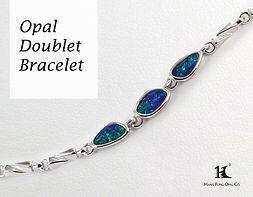 Opal Doublet Bracelet, Opal Jewellery, Opal Bracelets, Opal Bangles, Opal, Australian Opal, Opal Doublet, 恆豐, HFO, 蛋白石, 澳寶, 歐泊, 手鏈, 14K gold, silver bracelet