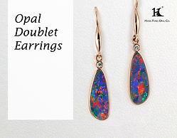 Opal Doublet earrings, Opal jewellery, Australian Opal, Opal Doublet earrings, 恆豐, HFO, 蛋白石, 澳寶, 歐泊, 耳環, silver earrings, 14K earrings, Hang Fong Opal, opals and diamonds