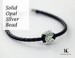 Solid Opal Silver Bead, Opal Doublet Bracelet, Opal Jewellery, Opal Bracelets, Opal Bangles, Opal, Australian Opal, Solid Opal, 恆豐, HFO, 蛋白石, 澳寶, 歐泊, 手鏈, leather and silver