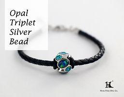 Solid Opal Silver Bead, Opal Doublet Bracelet, Opal Jewellery, Opal Bracelets, Opal Bangles, Opal, Australian Opal, Opal triplet, 恆豐, HFO, 蛋白石, 澳寶, 歐泊, 手鏈, leather and silver