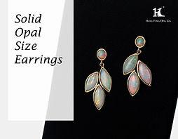 Opal earrings, Opal jewellery, Australian Opal, Solid Opal Earrings, 恆豐, HFO, 蛋白石, 澳寶, 歐泊, 耳環, 14K gold, silver earring