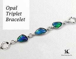 Opal Triplet Bracelet, Opal Jewellery, Opal Bracelets, Opal Bangles, Opal, Australian Opal, Opal Triplet, 恆豐, HFO, 蛋白石, 澳寶, 歐泊, 手鏈, 14K gold, silver bracelet