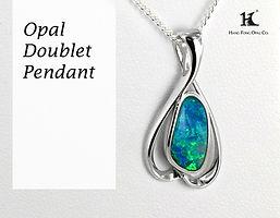 Opal Doublet Pendant, Opal Pendants, Opal Jewellery, Opal jewelry, Australian Opal Pendant,HFO, 蛋白石, 澳寶, 歐泊, 吊墜, 恆豐, silver, 14K gold pendant, Hang Fong Opal