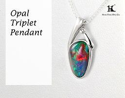 Opal Triplet, Opal Pendants, Opal Jewellery, Opal jewelry, Australian Opal, HFO, 蛋白石, 澳寶, 歐泊, 吊墜, 恆豐, silver, 14K gold,
